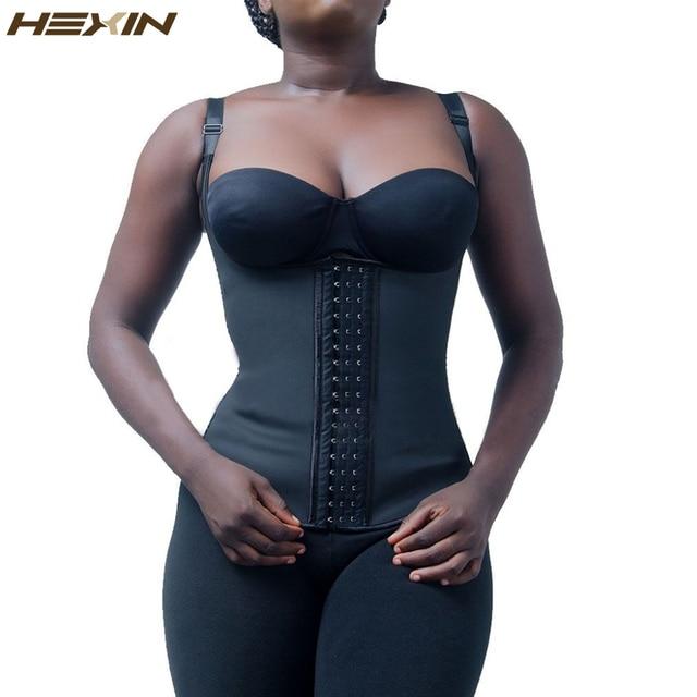 925d3b6177 HEXIN100% Latex Waist Trainer Cincher Faja Girdle Full Vest Body Shaper  Steel Boned Corset Women Shapewear Plus Size Shapers