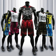 SANHENG Mens Basketball Jersey Shorts Competition Uniforms Suits With Pocket Quick-Dry Custom Jerseys S116172