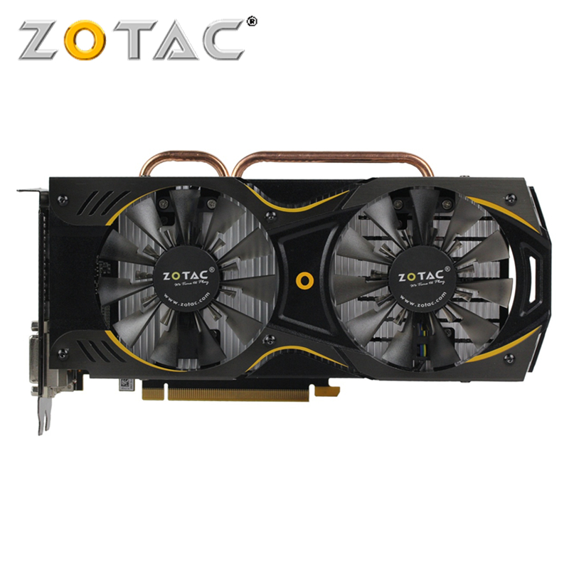 <font><b>ZOTAC</b></font> <font><b>GTX</b></font> <font><b>960</b></font> 4GB Video Card GPU 128Bit GDDR5 Graphics Cards For NVIDIA Original GeForce GTX960 4GD5 GM206 PCI-E X16 Hdmi Dvi image
