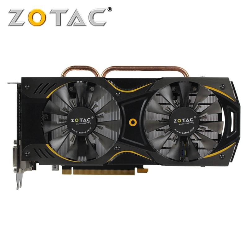 Видеокарта ZOTAC GTX 960 4 Гб, графическая карта GPU бит GDDR5, графические карты для NVIDIA, оригинальная GeForce GTX960 4GD5 GM206 PCI-E X16 Hdmi Dvi