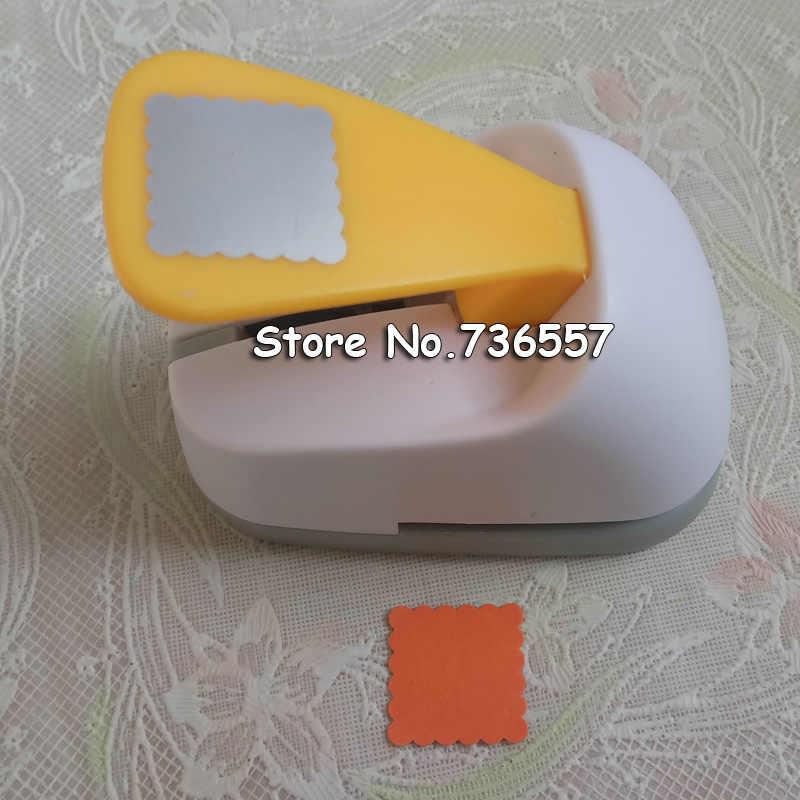 Livraison gratuite Wave carré en forme d'économie de papier d'alimentation/eva craft punch Scrapbook à la main perforateurs bricolage perforateurs biscuits perforateur