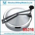 450 мм SS316L Круговой крышка люка без давления, высота: 100 мм