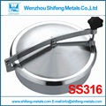 450mm SS316L Circular manhole cover without pressure, Height:100mm