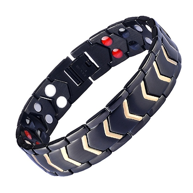 4 IN 1 New Hot Men Magnetic Therapy Bracelet for Men Classic Titanium Steel Anti-snoring Health Care Anti Snore Wrist Watch 2019