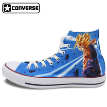 Anime Dragon Ball Gohan Super Saiyan Converse All Star Women Men Shoes Custom Design Hand Painted Shoes Boys Girls Sneakers