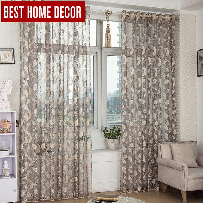 bhd hojas de tul para la ventana cortinas para la sala de estar del dormitorio