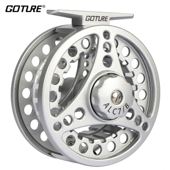 Goture ALC Fly Fishing Reel 3/4 5/6 7/8 WT Aluminum Frame Spool Left Right Hand Die Casting Fly Reel Coil Pesca 2+1BB