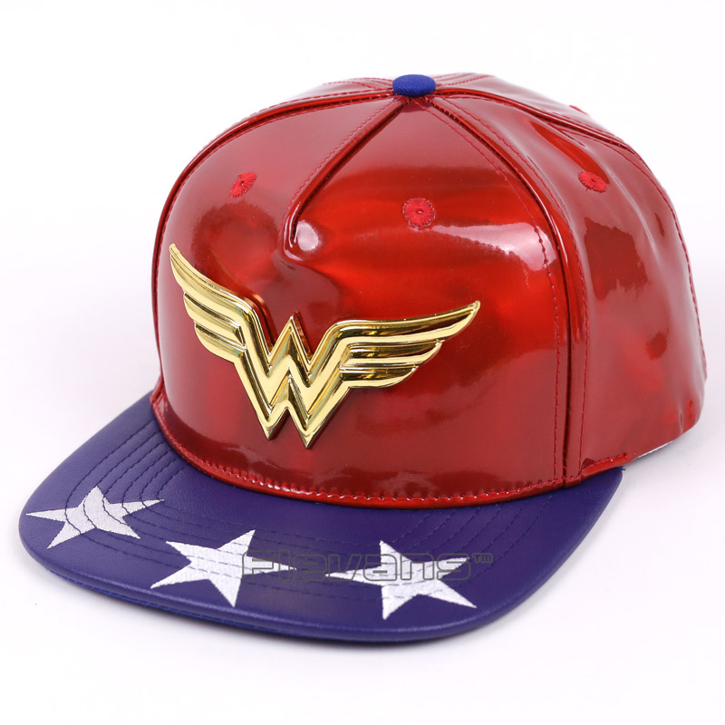 2017 New Fashion Wonder Woman Unisex Leather Baseball Caps Men Women Hip Hop Snapback Cap 3 Types 2017 new fashion women men knitting beanie hip hop autumn winter warm caps unisex 9 colors hats for women feminino skullies