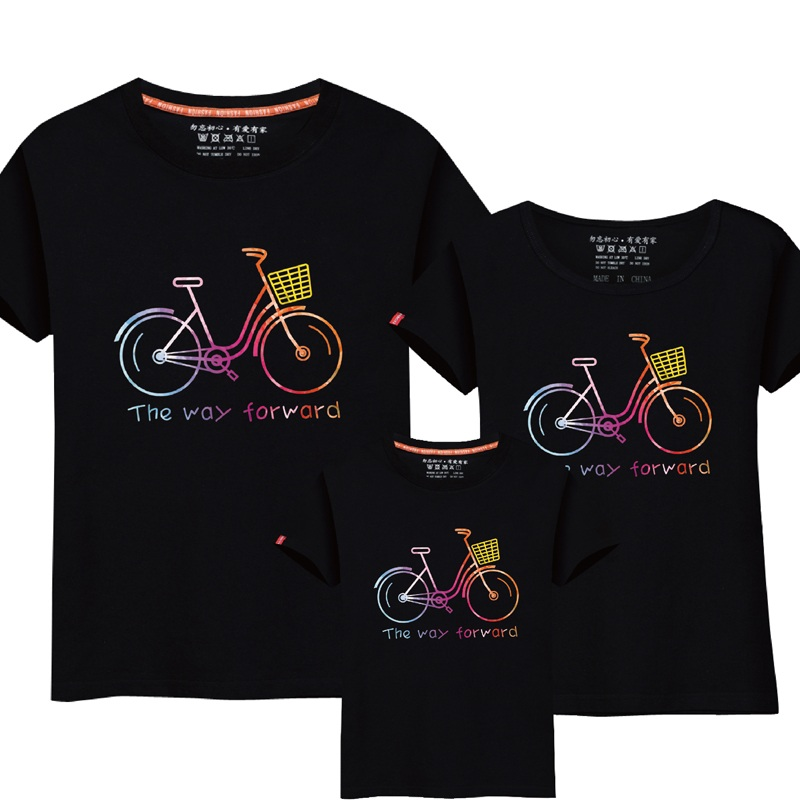 ff8250986826e 95% Cotton 5% Silk Family Matching Clothing Summer Short sleeve T shirt  Family Clothes Mother Daughter Father Son Outfits Suits-in Matching Family  Outfits ...