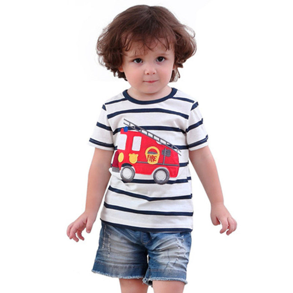 HTB11wUXQFXXXXXQXFXXq6xXFXXXa - 2017 New Brand top quality kids clothing summer boys short sleeve O-neck t shirt Cotton embroidery cartoon striped tee tops