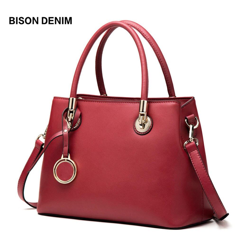 BISON DENIM Leather Women Bags luxury handbags women bags designer Fashion Shoulder Bag bolsa feminina crossbody