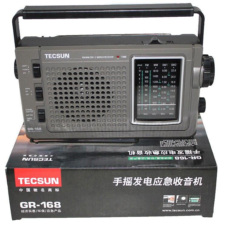 TECSUN GREEN 168 Radio FM MW SW Hand Crank Dynamo Emergency Multiband Radio Receiver Vintage Radio