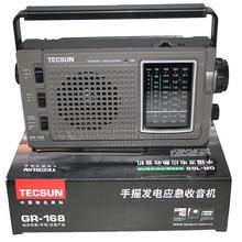 TECSUN verde 168 Radio FM / MW / SW mano manivela Dinamo de emergencia receptor de Radio multibanda Radio Vintage