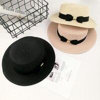 Lato dziewczynka dziki kolor mały kapelusz Tide kobieta Brytyjska metalu łuk płaska pokrywa słońce kapelusz