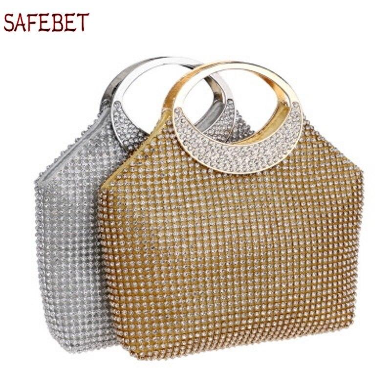 SAFEBET бренд Женская сумка 2018 Новая мода сумка Горящее предложение-люкс для торжеств женская одежда Алмаз Ужин Алмаз сумка