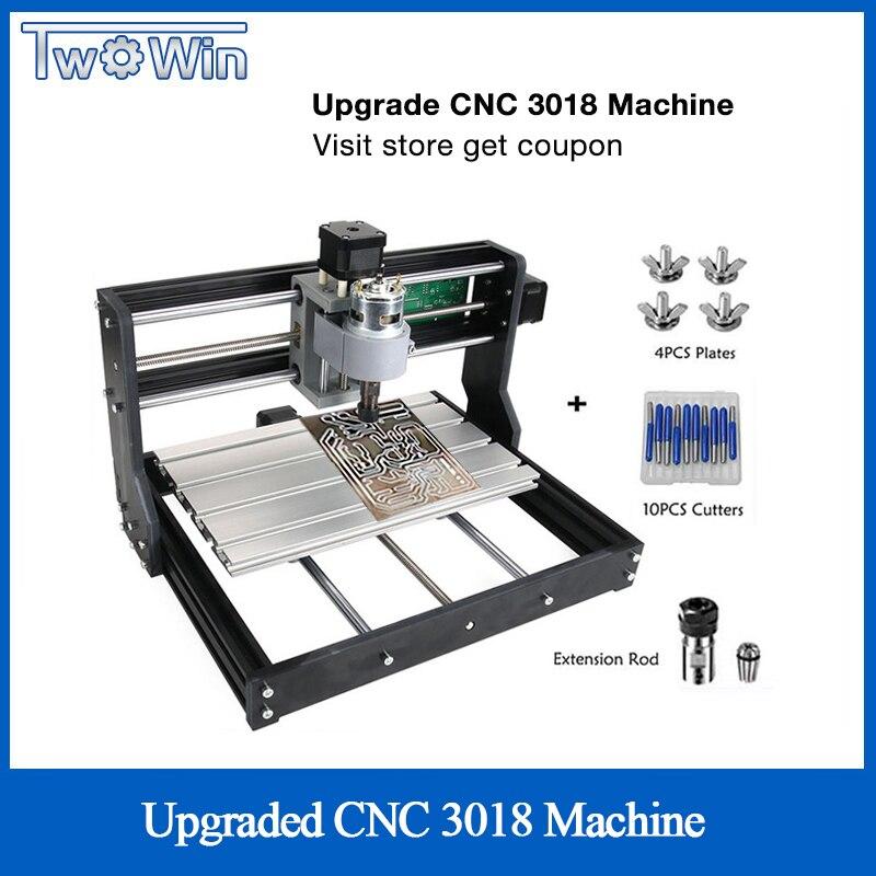 Atualizado cnc 3018 pro grbl controle er11 diy mini máquina cnc 3 eixos pcb fresadora de madeira roteador gravação a laser