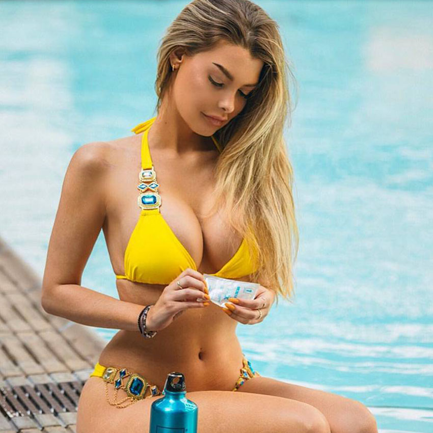 Femmes Sexy W0oy0iqgu De Maillots Cut Halter 2017 Bain Maillot Bikini 9H2IED