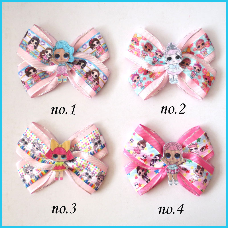 "20 Girl 4.5/""  New Angel Hair Bow Clip L.O.L Surprise Doll Mermaid Wholesale"