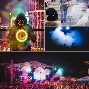 Image 3 - Aimkeeg 500W Wireless LEDหมอกควันรีโมทRGBสีควันEjector LED Professional DJ Party Stage Light