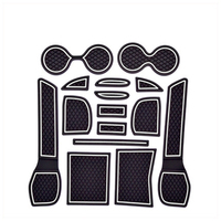 For Nissan X Trail X Trail XTrail 2014 2015 2016 Gate Slot Mats Nonslip Cup Pad Antislip Door Groove Mat Car Accessories 15pcs