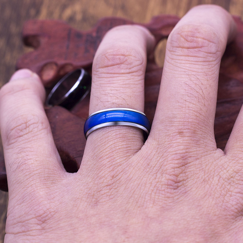 Cambiando de Color humor anillos sensación emoción temperatura anillo ancho  6mm de joyería inteligente venta directa de fábrica en Anillos de Joyería y  ... 5a7798e6296