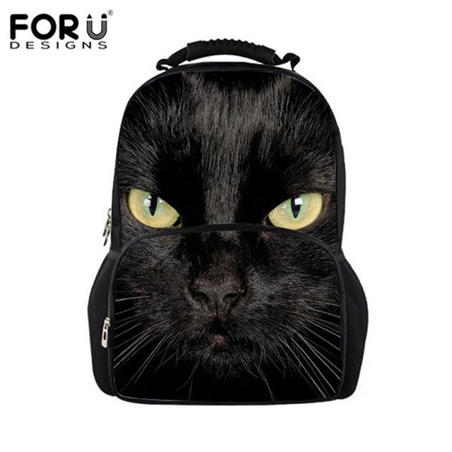 0ab408a9a8 FORUDESIGNS Black Cat Backpack Women Harajuku Style Backpacks for Teenager  Girls Cute School Bag Animals Printing Bags Mochila