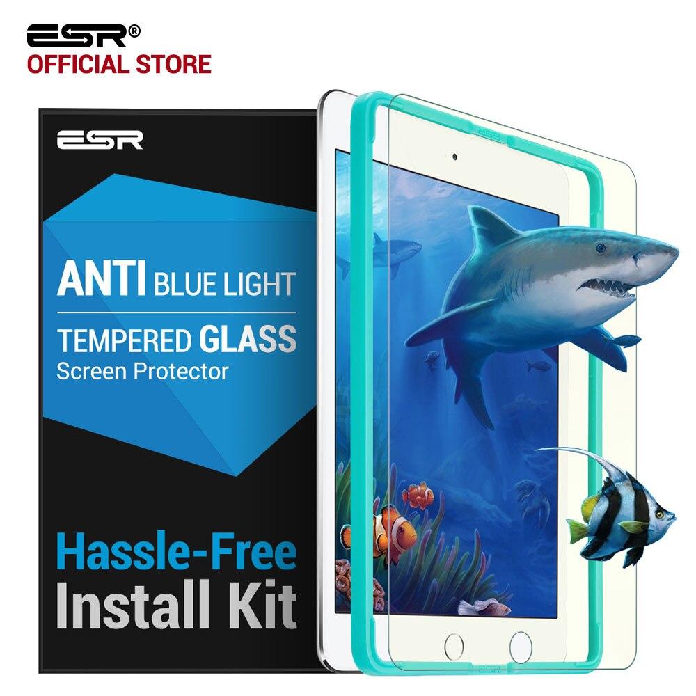Screen Protector für iPad 2017/Pro 9,7/Air 2/Air ESR 0,33mm Anti Blau-ray gehärtetem Glas mit Freies Applikator für Neue iPad 2018