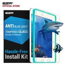 Protector de pantalla para iPad 2017/Pro 9.7/Air 2/Aire, ESR 0.33mm Vidrio Templado Protector de Pantalla Anti Blue-ray con Aplicador