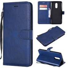 Wallet Case For LG Stylo 4 Q Stylus Flip back Cover Pure Color PU Leather