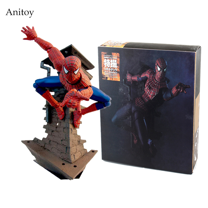 SCI-FI Revoltech Spiderman Series No.039 Spider-Man Variable PVC Action Figure Collectible Model Toy 13.5cm KT2527 a toy a dream free shipping 6 tokusatsu revoltech no 002 hero spiderman spider man boxed 16cm pvc action figure model doll toy