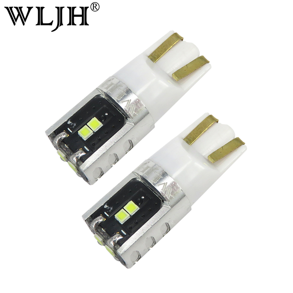 WLJH 2x 2825 W3W W5W T10 LED Bulb Interior Trunk Light Map Dome Lamp For BMW 2 Series 3 Series 4 Series Active Hybrid 3 5  X5 M6 wljh 6x canbus w5w t10 led car light 9 led 2835 smd interior light dome map stepwell bulb courtesy cargo trunk lights source