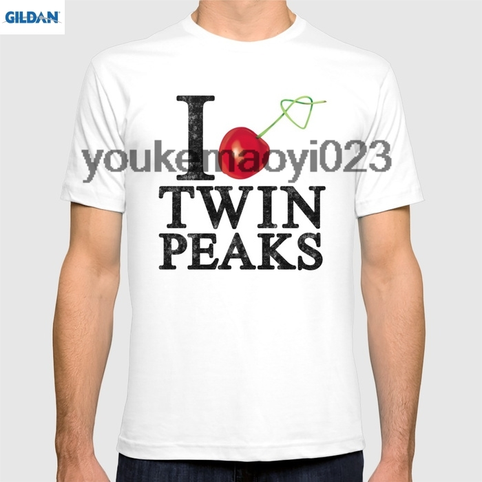 GILDAN I Love Twin Peaks (Cherry Stem) for men t shirt