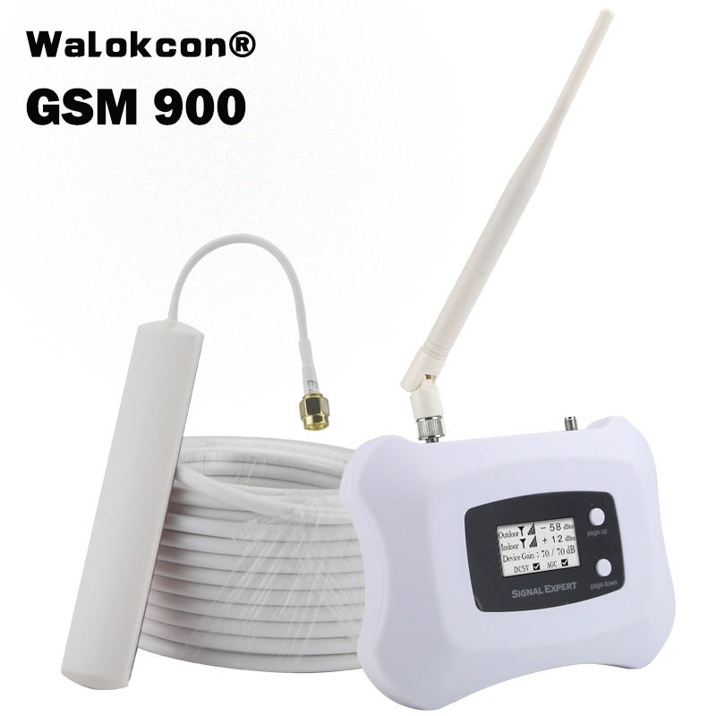 70dB GSM Cellular Signal Booster Smart ALC GSM 900mhz Mobile Phone Repeater GSM 900 Amplifier Cell Phone Calls Receiver AS-G1