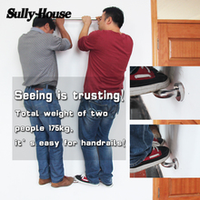 Sully House 304 Stainless Steel Brush Bathroom Safety Handrail, Wall Mount Grab Bars Elderly Safety Helping Bathtub Handle