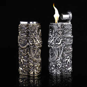 Armor Metal Vintage Dragon Gasoline Lighter4