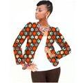 Completo de la manga mujeres de la manera impresión africano dashiki chaqueta a medida ropa de las señoras abrigo corto personalizado patrón de áfrica clothing