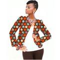 Full sleeve fashion women print african jacket tailored dashiki clothes ladies short coat customized pattern africa clothing