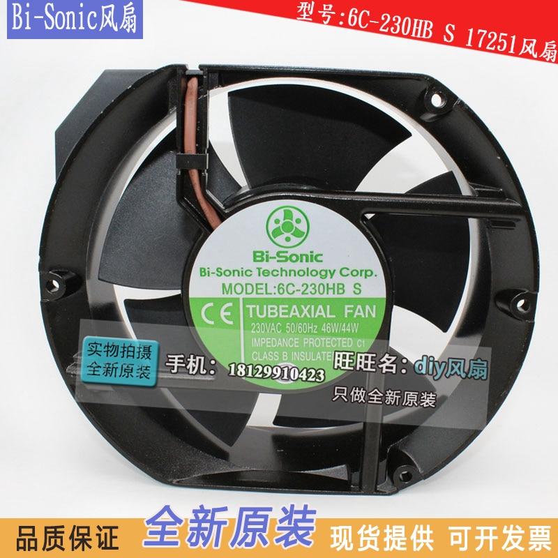 NEW FOR BI-SONIC 6C-230HB S 17251 AC 220V 17CM cooling fan free shipping bi sonic fan 6c 230hb c 17251 ac 220v axial flow fan rpm2850 0 16a 30w rpm 2850