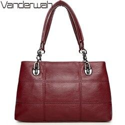VANDERWAH women Top-handle bags handbags women famous brands female Embroidery casual Big shoulder bag Tote for girls SAC A MAIN