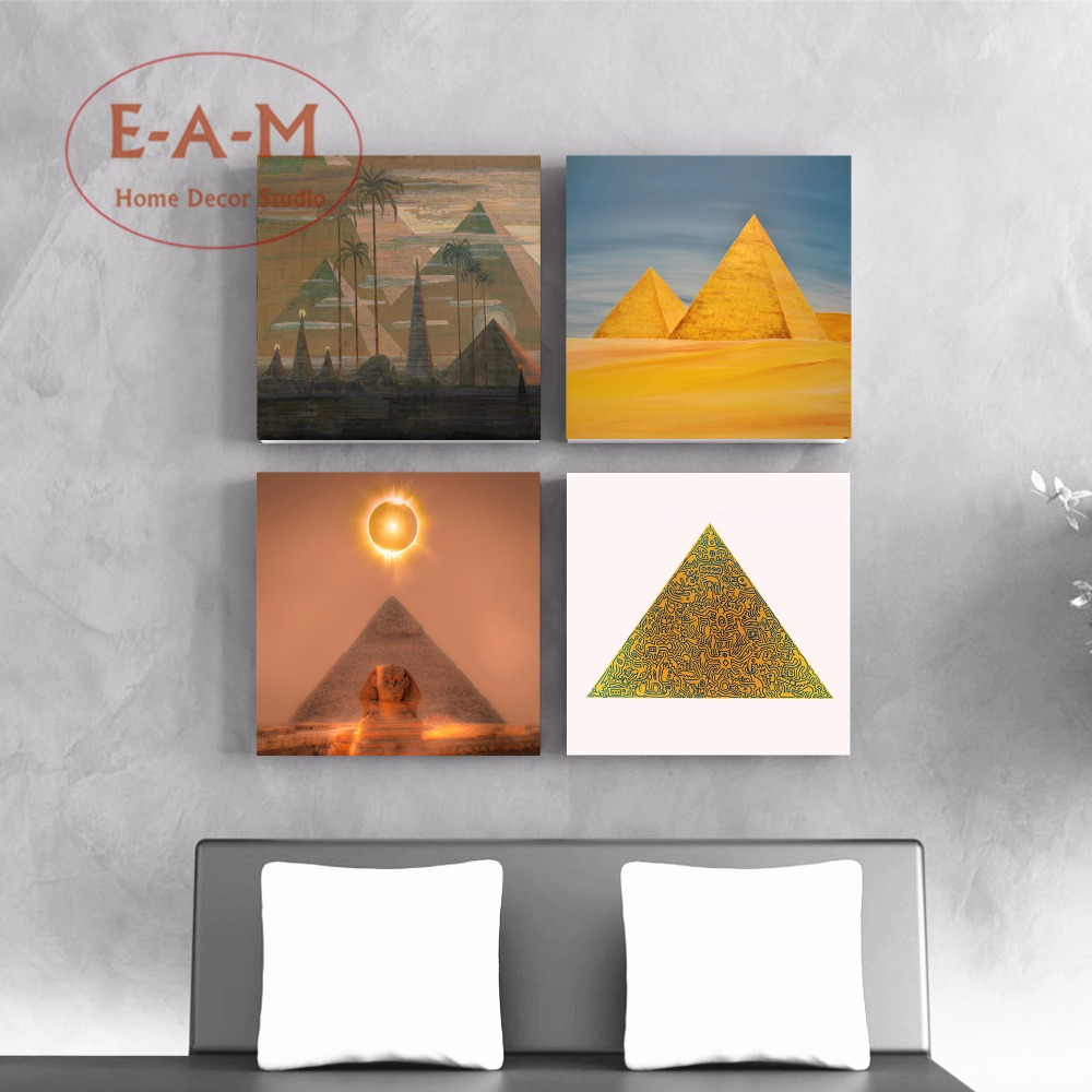 Kids Bedroom Egypt aliexpress : buy egypt pyramid artwork canvas art print