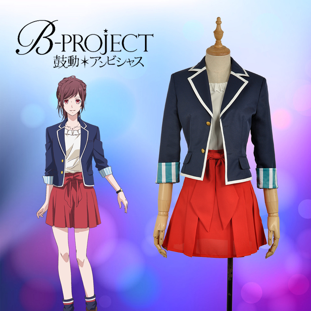 Anime/Game Virtual Idol Group B-project  Tsubasa Sumisora Uniform Cosplay Custom Costume  Outfit Clothing For Adult W1026