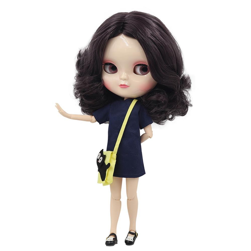 Toys & Hobbies Dolls & Stuffed Toys Cheap Price Icy Doll 1/6 Yellow Short Deep Purple Hair Without Bangs White Skin A-cup Joint Body Azone Body Bl9219 30cm Pretty And Colorful