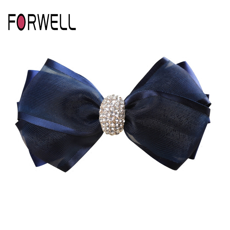 Birthday Banquet Headdress Cloth Hair Clips Ponytail Clip Hair Accessories Female Adult Rhinestone Princess Top Clip Jewelry