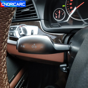Krom araba direksiyon silecek kolu kapak flaşör çubuk Trim için BMW X1 F48 X3 F25 X5 F15 X2 1/2 sereis f45 iç aksesuarları