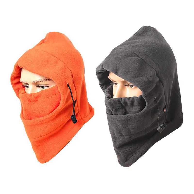 Cálidos gorros de invierno para nieve para hombres y mujeres a prueba de viento Anti-Arena papá sombrero corriendo esquí gorra para ciclista-cuello-protección al aire libre CS máscara