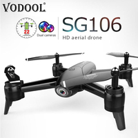 VODOOL SG106 RC Drone 22min Flytime 720P/1080P HD Dual Camera FPV WiFi 3D Rolling Gesture Control RC Quadcopter Helicopter Dron