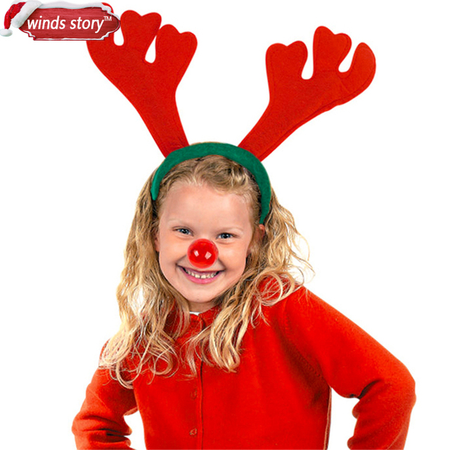 12546d6251f34 6pcs Reindeer Antlers Xmas Party Headband Lovely Christmas Hairpin for Kids  Cute Christmas Decoration Supplies head