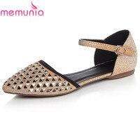 MEMUNIA Big Size 34 42 New Arrive Spring Summer Rhinestone Women Flat Shoes Simple Top Quality
