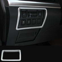 Auto Interior Accessories Car Light Switch Trim For Outback 2015 Abs Chrome Matte Sliver YT-73012-1