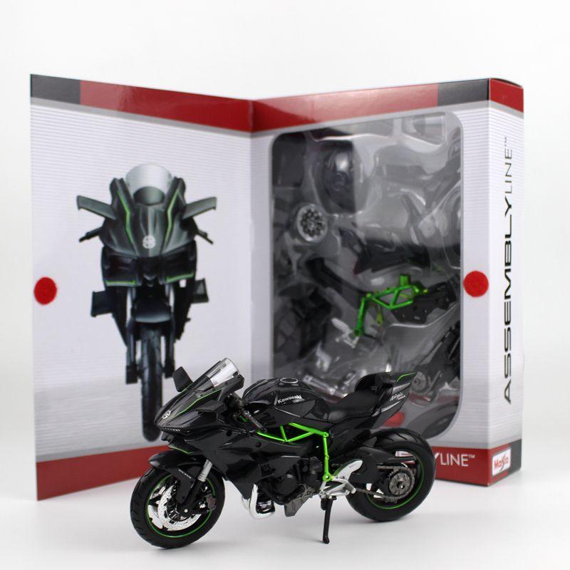 Maisto 1:12 Kawasaki Ninja H2R H2 R Araya DIY motosiklet bisiklet Modeli YENIMaisto 1:12 Kawasaki Ninja H2R H2 R Araya DIY motosiklet bisiklet Modeli YENI